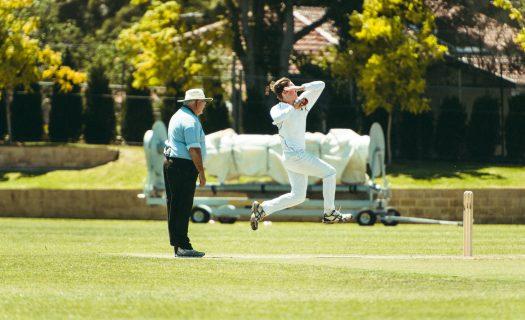 Newington Cricket bowling Nick Williams